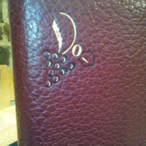 Dorure sur cuir réalisée sur un protège cahier