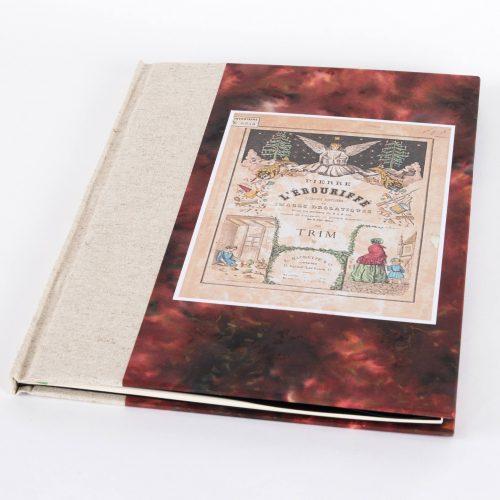 reliure traditionnelle Pier l'Ebouriffé couverture papier et tissu