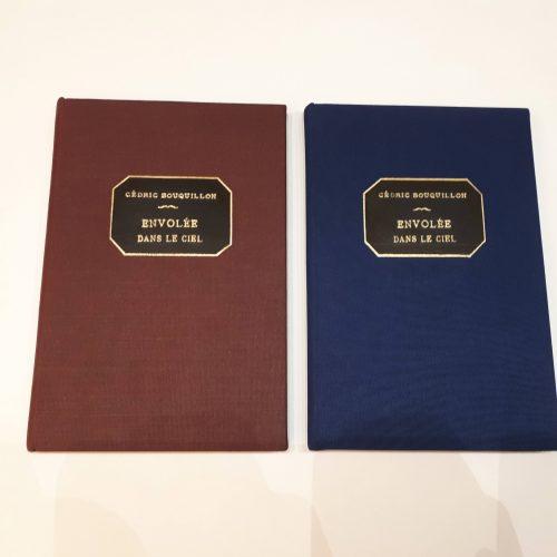 Livre couverture tissu - reliure traditionnelle - Pièces de titre en cuir avec dorure