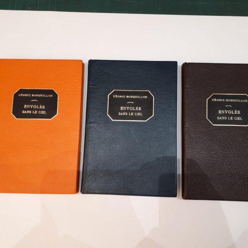 Livres couverture cuir - Reliure traditionnelle avec dorure